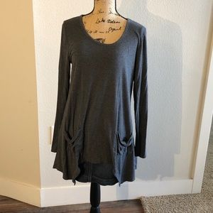 Joan Vass Gray Size Large Gray Comfortable Tunic